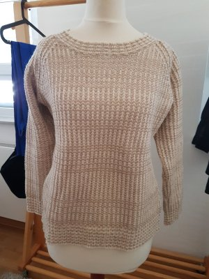 Zara Knit Coarse Knitted Sweater beige-oatmeal new wool