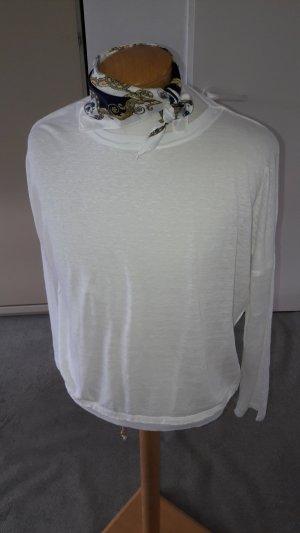 Zara Maglione girocollo bianco-bianco sporco Tessuto misto
