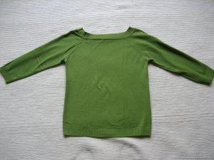 Zara Jersey de cuello redondo verde