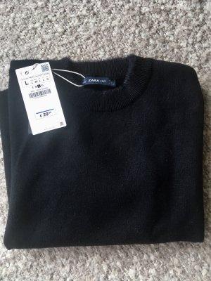 Zara Jersey de manga corta negro