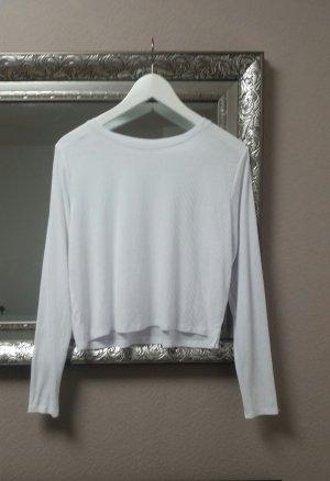 Zara Pulli Shirt Langarm Oberteil Rippshirt Oversize Schlitz Blogger Gr. S