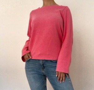 Zara Jersey de cuello redondo rosa