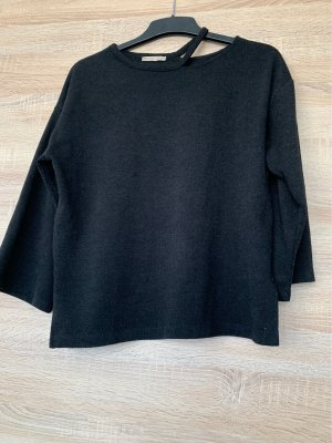 Zara Jersey de cuello redondo negro