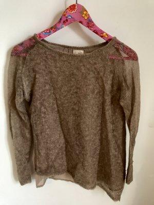 Zara Pullover Beige Größe S Mohair Wolle
