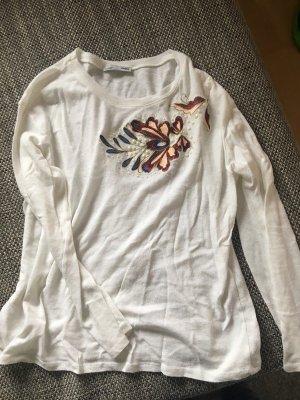 zara pullover Creme weiß Gr. S mit Stickerei perlen
