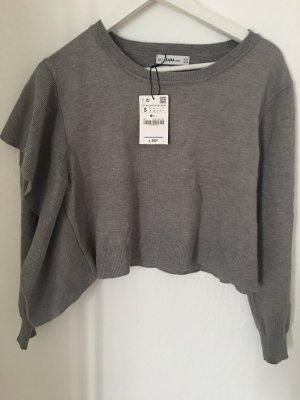 Zara Maglione grigio-grigio chiaro