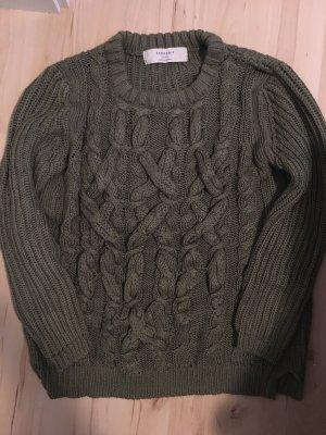 Zara Grof gebreide trui khaki