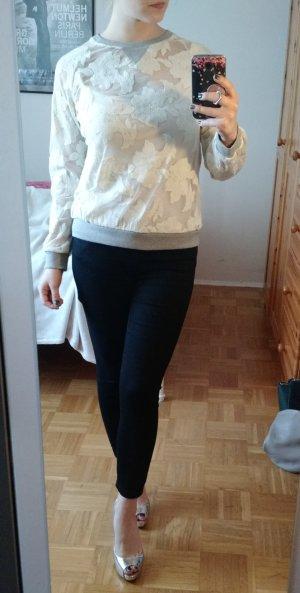 Zara Pullover Gr. 36 S Pulli Oberteil transparent mesh blogger sweatshirt trend