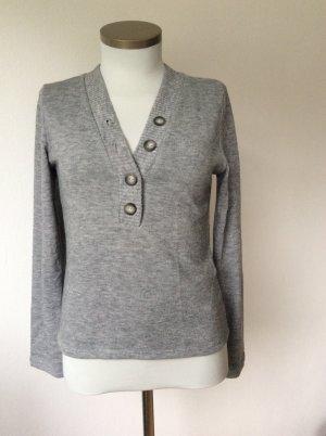 Zara Pull tricoté gris