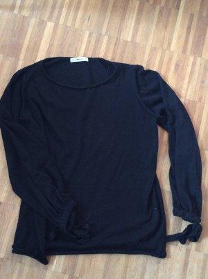 Zara Pull noir-argenté tissu mixte