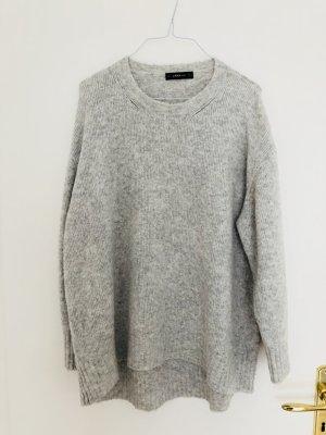Zara Pullover L Wolle Strick hellgrau