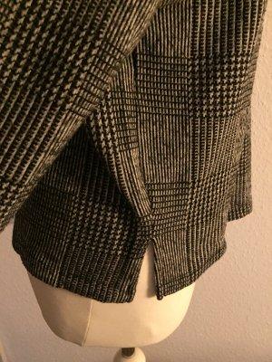 Zara Jersey de cuello redondo negro-blanco