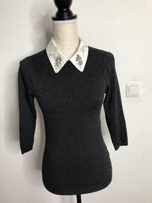 Zara Pullover mit Kragen, Gr. S, neu