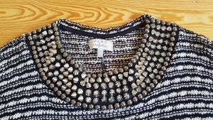 Zara Maglione lavorato a maglia bianco-nero