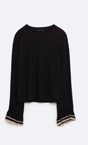 Zara Pullover mit Volant-Ärmeln