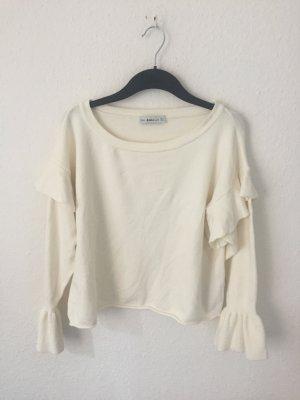 Zara Pull blanc cassé-crème