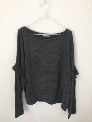 Zara Oversized trui grijs-donkergrijs