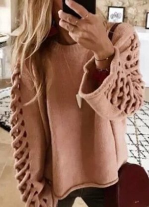 Zara Cable Sweater light pink