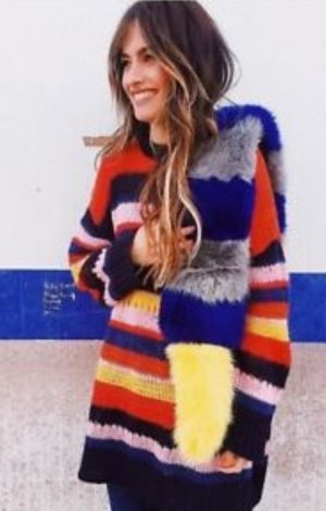 Zara Long Sweater multicolored