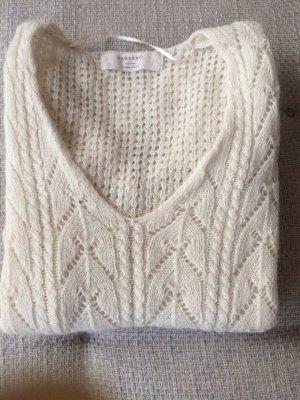 Zara Jersey con cuello de pico blanco puro-blanco