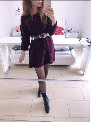 Zara Sweaterjurk bruin-paars