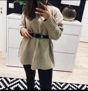 Zara Maglione oversize bianco sporco-beige chiaro