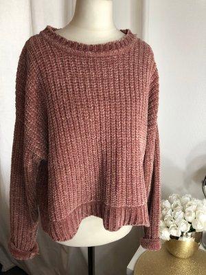 Zara Maglione lavorato a maglia rosa