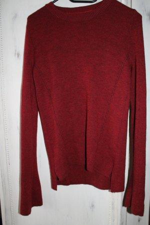 ZARA Pullover Rot Gr. L NEU Trompetenärmel Glockenärmel Trend blogger