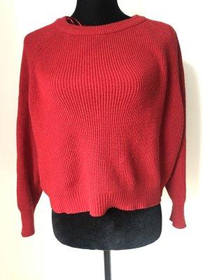 Zara Pullover Rot mit Reißverschluss