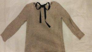 Zara Pullover schleife beige