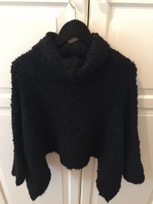 Zara Pullover Strick Strickpullover Knit Schwarz Cropped Croppedtop NEU