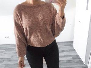 Zara Maglione girocollo rosa antico