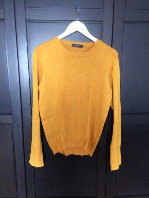 Zara Pull ras du cou orange doré