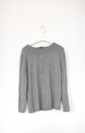 Zara Pullover Zipper in Grau Gr. M Basic Blogger