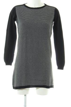 Zara Abito maglione nero-bianco punto treccia stile casual