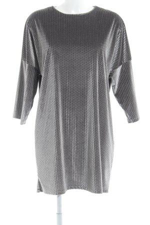 Zara Pulloverkleid abstraktes Muster Samt-Optik