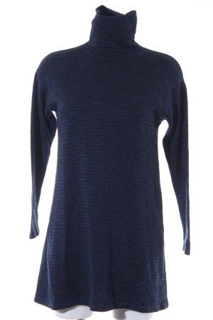 Zara Sweater Dress dark blue-black horizontal stripes casual look
