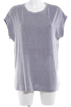 Zara Abito maglione nero-bianco motivo a righe stile casual
