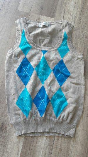 Zara Pullunder Strick Knit Feinstrick Rauten Klassisch Basic