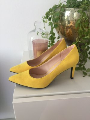 Zara Pumps gelb Gr 39