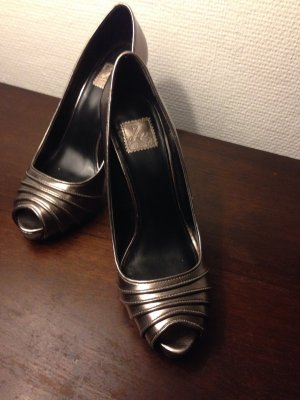 Zara Pumps gold silber bronze 38