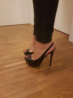 Zara Pumps Gr. 37 schwarz Lack