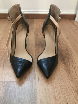 Zara Strapped pumps black-nude
