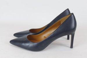 Zara Talons hauts bleu foncé cuir