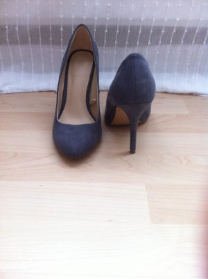 Zara Pumps High Heels Wildleder Imitat Grau Gr. 37