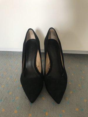 Zara Pumps mit Spitze schwarz