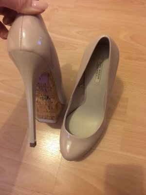 Zara Pumps Plateaupumps 40 neu mit Etikett Kork Lack High Heels