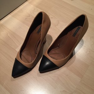 Zara Pumps, two-tone, Blockabsatz
