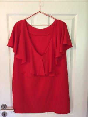 Zara raffiniertes Kleid mit Wasserfallrückenausschnitt