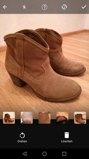 ZARA Rauleder Ankle Boots (Echtleder)